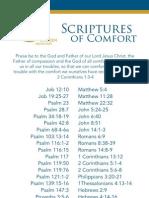 Comfort Scriptures Card