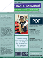 January 2014 UNC Dance Marathon Newsletter