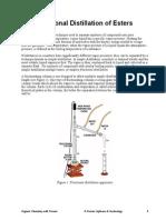 Fractional Distillation Esters