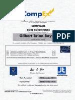 CompEx Certificate