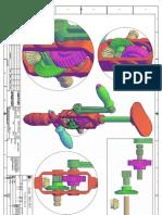 Protec furadeira manual Detalhes 3d Autocad