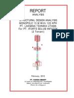 Tower Analysis Report Monopole 13 M_2tenant_120kph