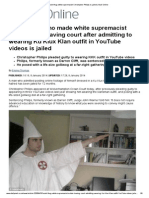 Racist Thug White Supremacist Christopher Philips is Jailed _ Mail Online
