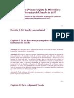 reglamento provisorio 1817