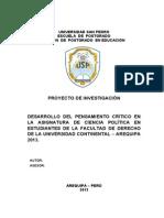MODELO DE PROYECTO DOCTORADO Y MAESTRÃ-A EN SUPERIOR  2013