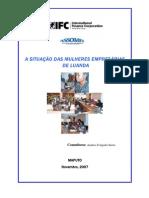 A Situação das Mulheres Empresárias de Luanda (November 2007)