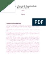 Proyecto de Constitucion Federal 1813