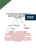 Estratto 15 pg Linee Guida Riparazione Rafforzamento Agosto 2009 Protezione Civile