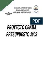 PREUPUESTO CENMA 2002