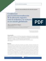 CONDICIONES PARA LA INTERNALIZACION DE LAS IES artículo