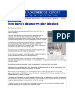 New bank's downtown plan blocked