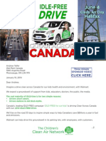 Clear Across Canada, IDLE-FREE Drive, Walmart, Jan. 10, 2014