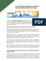PROPUESTAS DE PEATONES DE SEVILLA II JORNADAS MOVILIDAD SOSTENIBLE
