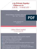 Trends in Private Equity -- China as #1