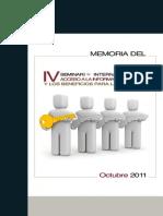 Memoria IV Sem Intl Acceso InfJud y BenefSociedad