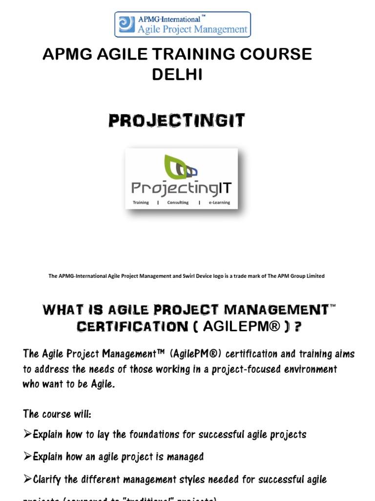Apmgapmg Agile Project Management Training Course In Delhi Agile Pm