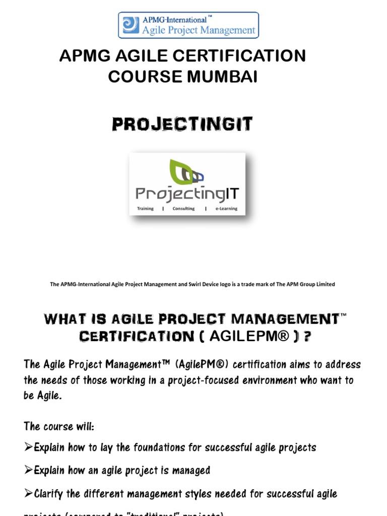 Apmg Agile Project Management Training Course In Mumbai Agile