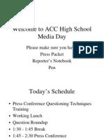 HS Media Day