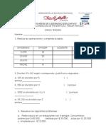 Taller de Recuperacion III Periodo matemáticas