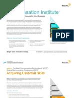 Compensation Institute Brochure