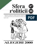 Sfera Politicii 87-88, 2001