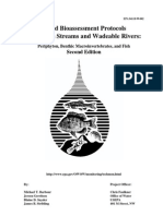 Rapid Bioassessment Protocols for Use in Streams and Wadeable Rivers-Periphyton Benthic Macroinvertebrates and Fish