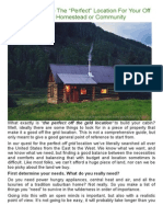 """How To Choose The """"Perfect"""" Location For Your Off Grid Homestead or Community"""