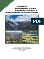 TERI Bhutan Human Settlement Guidelines