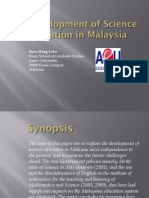 Development of Science Education in Malaysia