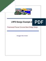 LRFD Design example Nº1. Prestressed prescast concrete beam bridge design (MATLAB)