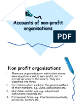 Accounts of Non-profit Organisations