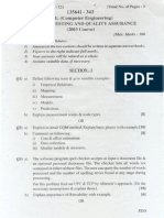 Exam paper BE Comp. (PU) Software Testing 09