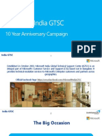 Case Study - Microsoft India GTSC - 10 Year Campaign