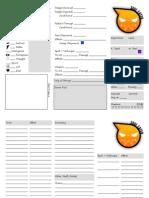 Soul Eater RPG - Character Sheet V1.1