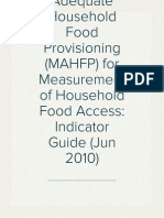 Months of Adequate Household Food Provisioning (MAHFP) for Measurement of Household Food Access