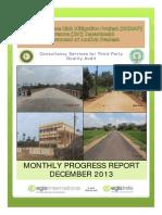 NCRMP-TPQA Monthly Progress Report December 2013