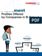 Placement Profiles Offered by Companies in B-School