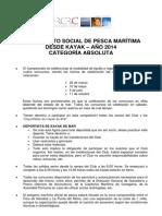 RCRC - BASES LIGA PESCA MARÍTIMA DESDE KAYAK 2014