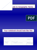 Geographic Features Slide Lecture
