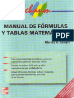 Manual de Fórmulas y Tablas Matemáticas Murray R. Spiegel