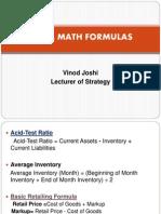 Retail Math Formulas