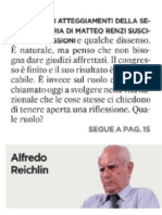 Il Pd non sia profeta disarmatoA.Reichlin