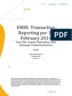 EMIR Transaction Reporting Alert 9 January 2014
