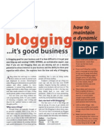 Blogging - It's good for business