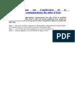 ! Guide pratique sur l'application de la réglementation communautaire des AiE.