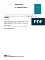 Language contact outcomes as the result of bilingual optimization strategies