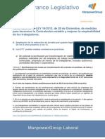 Informe novedades legislativas (RD - Ley 16/2013)