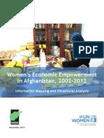Women's Economic Empowerment in Afghanistan, 2002-2012
