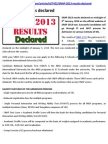 SNAP 2013 results declared