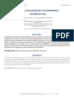 Lista actualizada de Mamíferos 2012 Ceballos.
